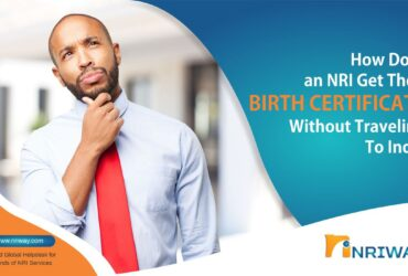 How does an NRI get their Birth certificate without traveling to India?