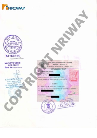 MEA apostille from india
