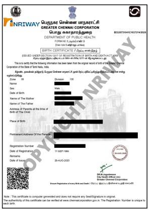 Birth Certificate from Mumbai