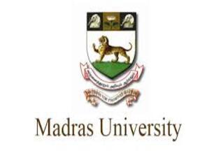Madras University Transcript